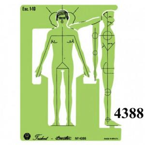 Gabarito Desetec 4388 Desenho Figura Humano