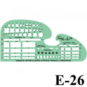 Gabarito Eletricidade E-26 Eletro Eletrônica Trident