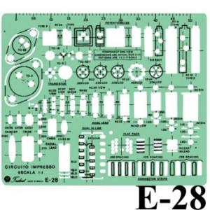 Gabarito Eletricidade E-28 Circuito Impresso Trident