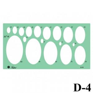 Gabarito Desenho D-04 Elipse Trident