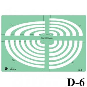 Gabarito Desenho D-06 Elipsógrafo Trident