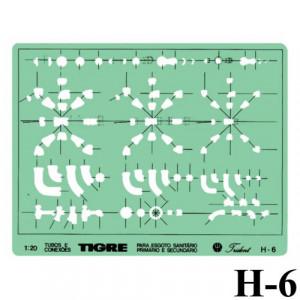 Gabarito Hidráulica H-06 Tubulações Trident
