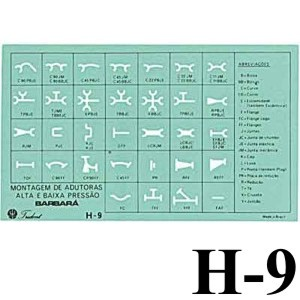 Gabarito Hidráulica H-09 Hidráulica Trident