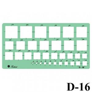 Gabarito Desenho D-16 Quadrados Trident