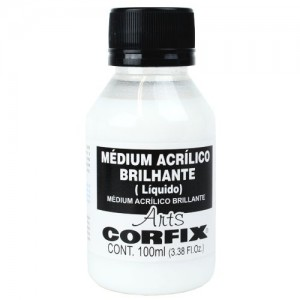 Médium Acrílico  Brilhante Corfix Arts 100ml