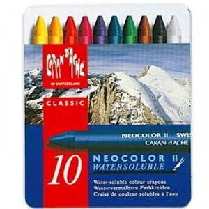 Giz Aquarelável Neocolor II Caran D'Ache 10 Cores