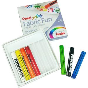 Pastel Para Tecido Pentel Fabric Fun 07 Cores