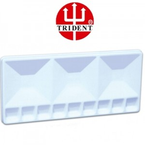 Godê Plástico Retangular 12 Cavidades Trident 12456