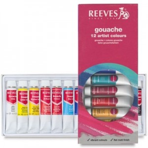Tinta Guache Reeves 12 cores com 12ml