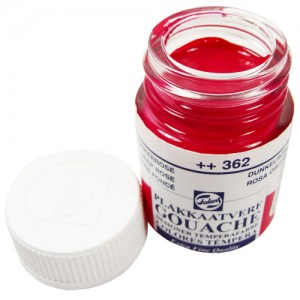 Tinta Guache Para Caligrafia Talens 16ml 362 Deep Rose