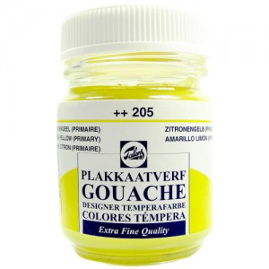 Tinta Guache Para Caligrafia Talens 50ml 205 Lemon Yellow