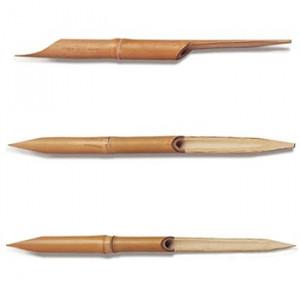 Pena de Bambú Para Caligrafia 03 Peças SFT087