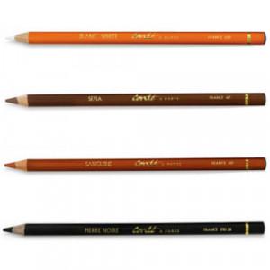 Lápis Crayon Conté à Paris  Kit 04 Lápis