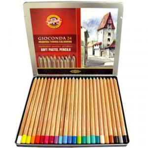 Lápis Pastel Seco Gioconda 24 Cores