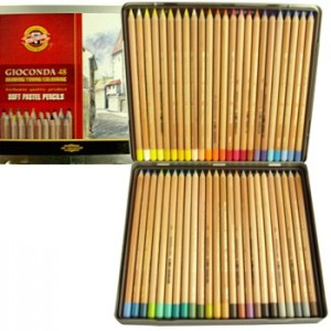 Lápis Pastel Seco Gioconda 48 Cores