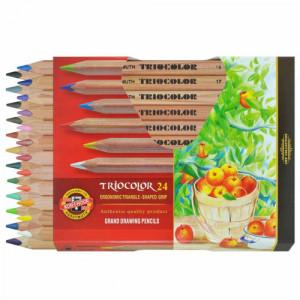 Lápis de Cor Triocolor 24 Cores