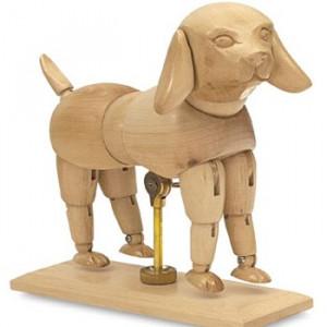 Cachorro Articulado de Madeira SFM056