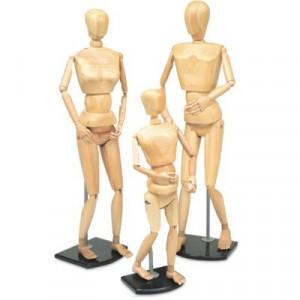 Manequim Articulado Tamanho Natural Familia Pai, Mãe e Filho