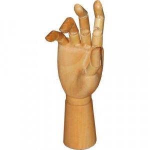 Mão Articulada de Madeira 30cm Direita