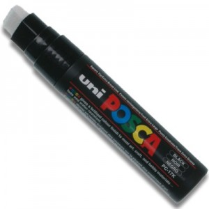 Caneta Posca Uni Ball Extra Larga PC-17K Preto