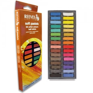 Pastel Seco Reeves Curto 32 Cores