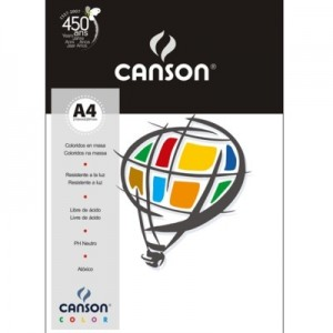 Papel Canson Vivaldi A4 180g/m² 10 Folhas 01 Branco