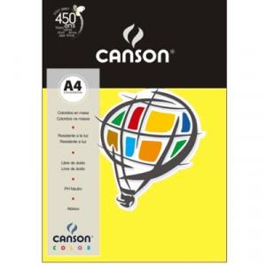 Papel Canson Vivaldi A4 120g/m² 15 Folhas 02 Amarelo Claro