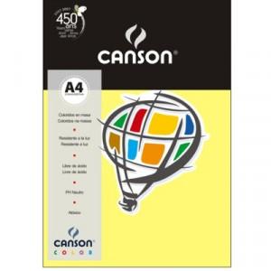 Papel Canson Vivaldi A4 120g/m² 15 Folhas 03 Amarelo Canário
