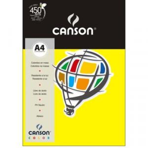 Papel Canson Vivaldi A4 120g/m² 15 Folhas 04 Amarelo