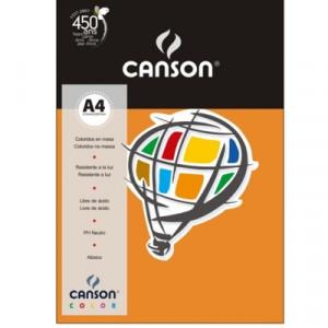 Papel Canson Vivaldi A4 180g/m² 10 Folhas 07 Laranja