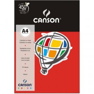 Papel Canson Vivaldi A4 120g/m² 15 Folhas 08 Vermelho