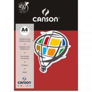Papel Canson Vivaldi A4 180g/m² 10 Folhas 09 Vermelho Escuro