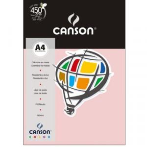 Papel Canson Vivaldi A4 120g/m² 15 Folhas 10 Rosa Claro