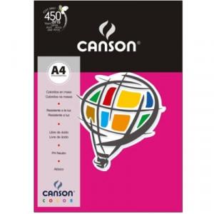 Papel Canson Vivaldi A4 120g/m² 15 Folhas 11 Rosa Escuro