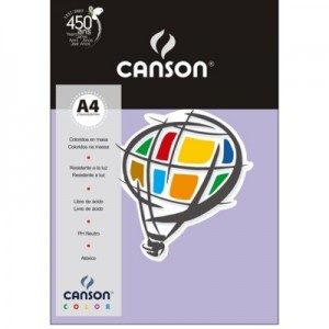 Papel Canson Vivaldi A4 120g/m² 15 Folhas 12 Violeta
