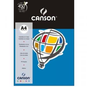Papel Canson Vivaldi A4 120g/m² 15 Folhas 15 Azul Royal