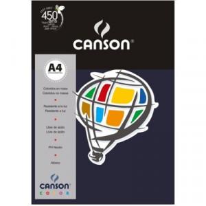 Papel Canson Vivaldi A4 180g/m² 10 Folhas 17 Azul Marinho