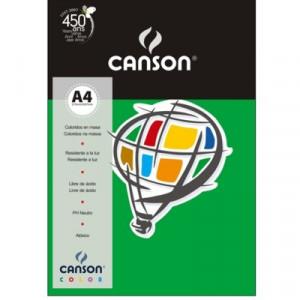 Papel Canson Vivaldi A4 120g/m² 15 Folhas 20 Verde Escuro