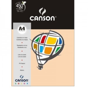 Papel Canson Vivaldi A4 180g/m² 10 Folhas 21 Marfim