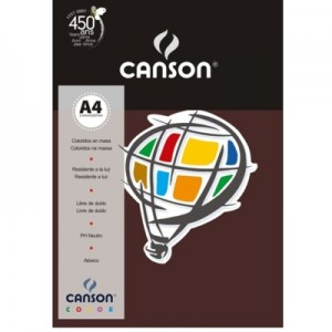 Papel Canson Vivaldi A4 120g/m² 15 Folhas 24 Chocolate