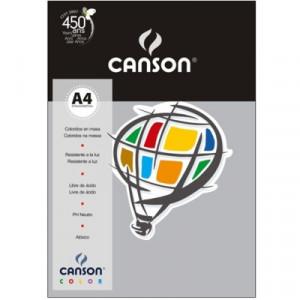 Papel Canson Vivaldi A4 120g/m² 15 Folhas 25 Cinza