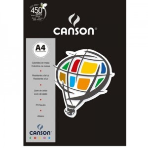 Papel Canson Vivaldi A4 180g/m² 10 Folhas 27 Preto