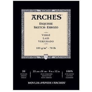 Bloco de Papel Arches Sketch Canson 105g/m²