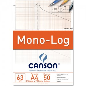 Bloco de Papel com Escala Mono-Log Canson 63g/m² A4