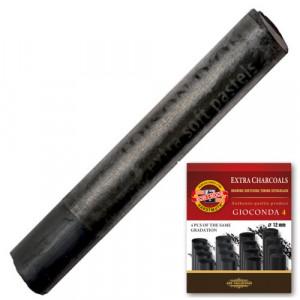 Carvão Graduado Koh I Noor Soft 04 Unidades 8694/1