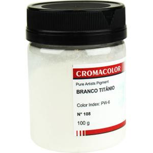 Pigmento Artístico Puro 108 Branco Titânio Cromacolor 100g