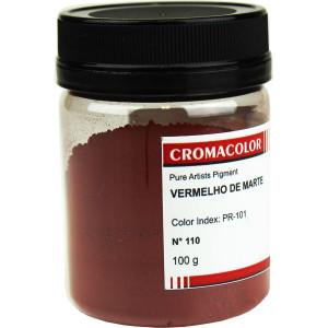 Pigmento Artístico Puro 110 Vermelho de Marte Cromacolor 100g