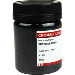 Pigmento Artístico Puro 115 Preto de Fumo Cromacolor 40g