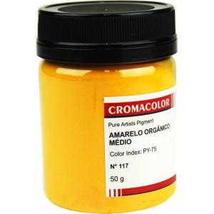 Pigmento Artístico Puro 117 Amarelo Orgânico Claro Cromacolor 50g