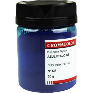 Pigmento Artístico Puro 124 Azul Ftalo GS Cromacolor 50g